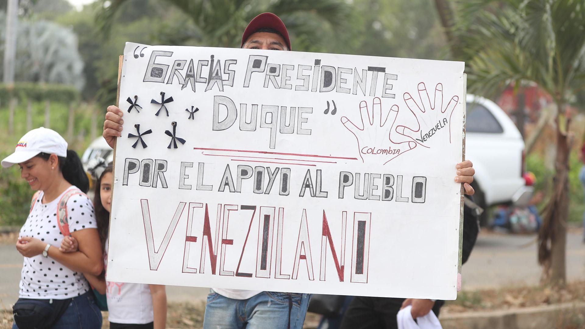 """""""Gracias Presidente Duque por el apoyo al pueblo venezolano"""" (EFE)"""