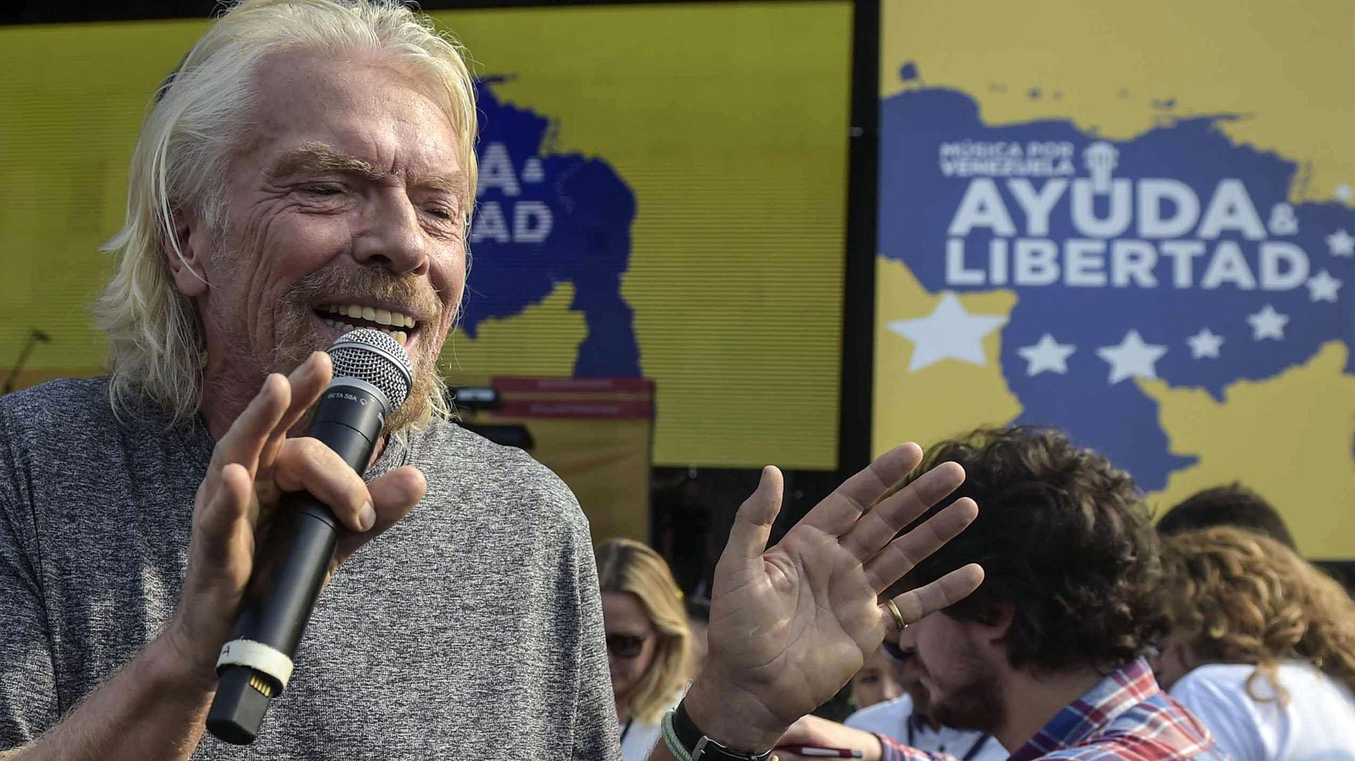 El multimillonario británico Richard Branson, organizador del recital. (AFP)
