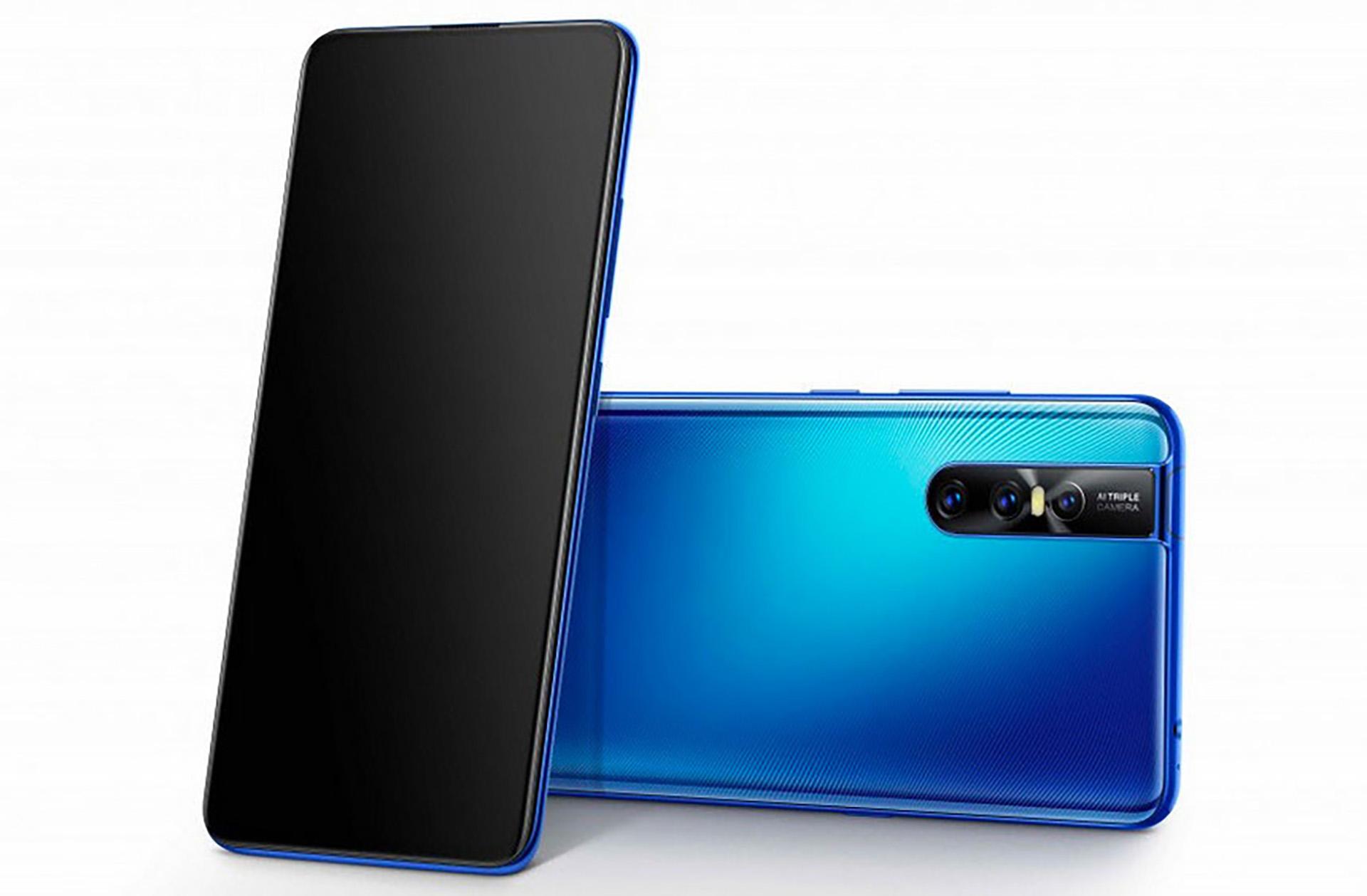 Vivo V15 Pro viene en negro y azul.