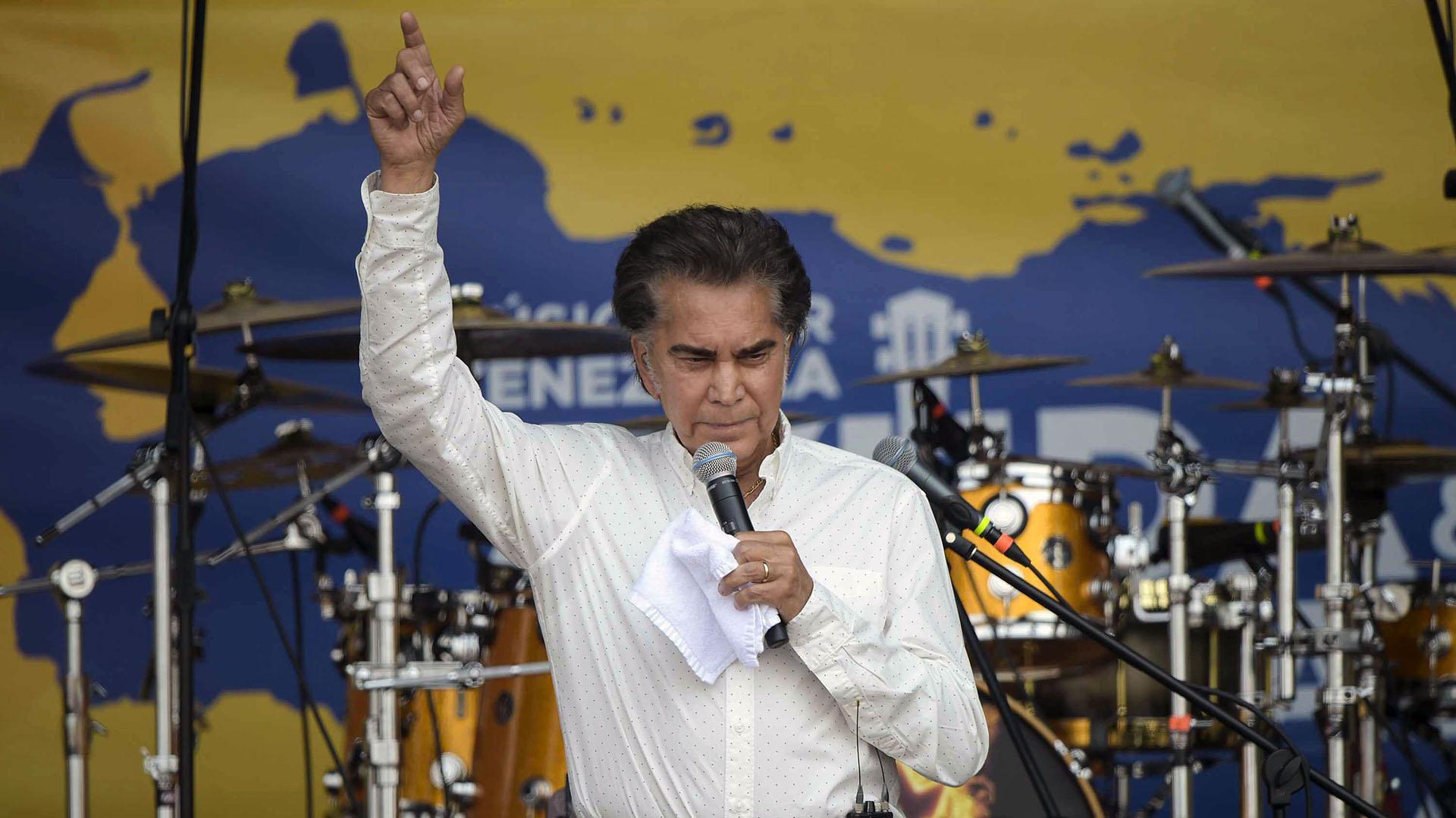 """El cantante venezolano José Luis """"El Puma"""" Rodríguez. (AFP)"""
