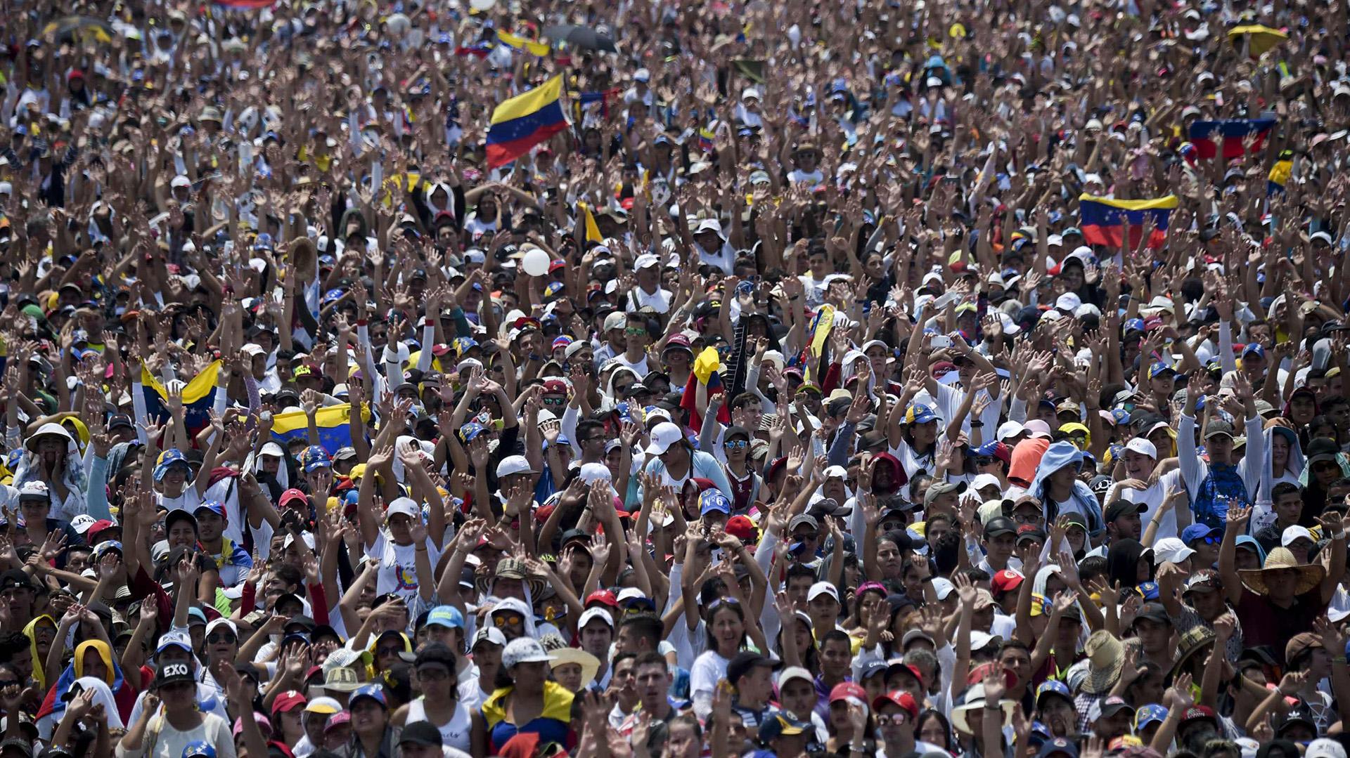 Miles de personas participaron del Venezuela Aid Live en Cúcuta, Colombia