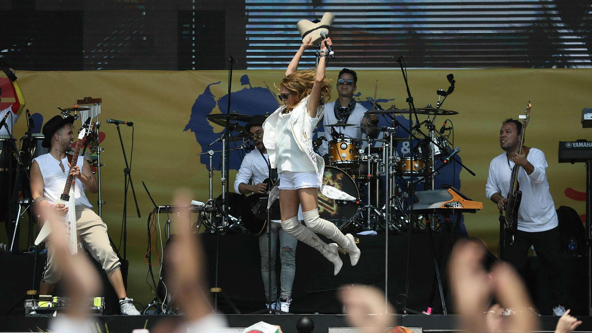 La cantante y actriz mexicana Paulina Rubio (AP)