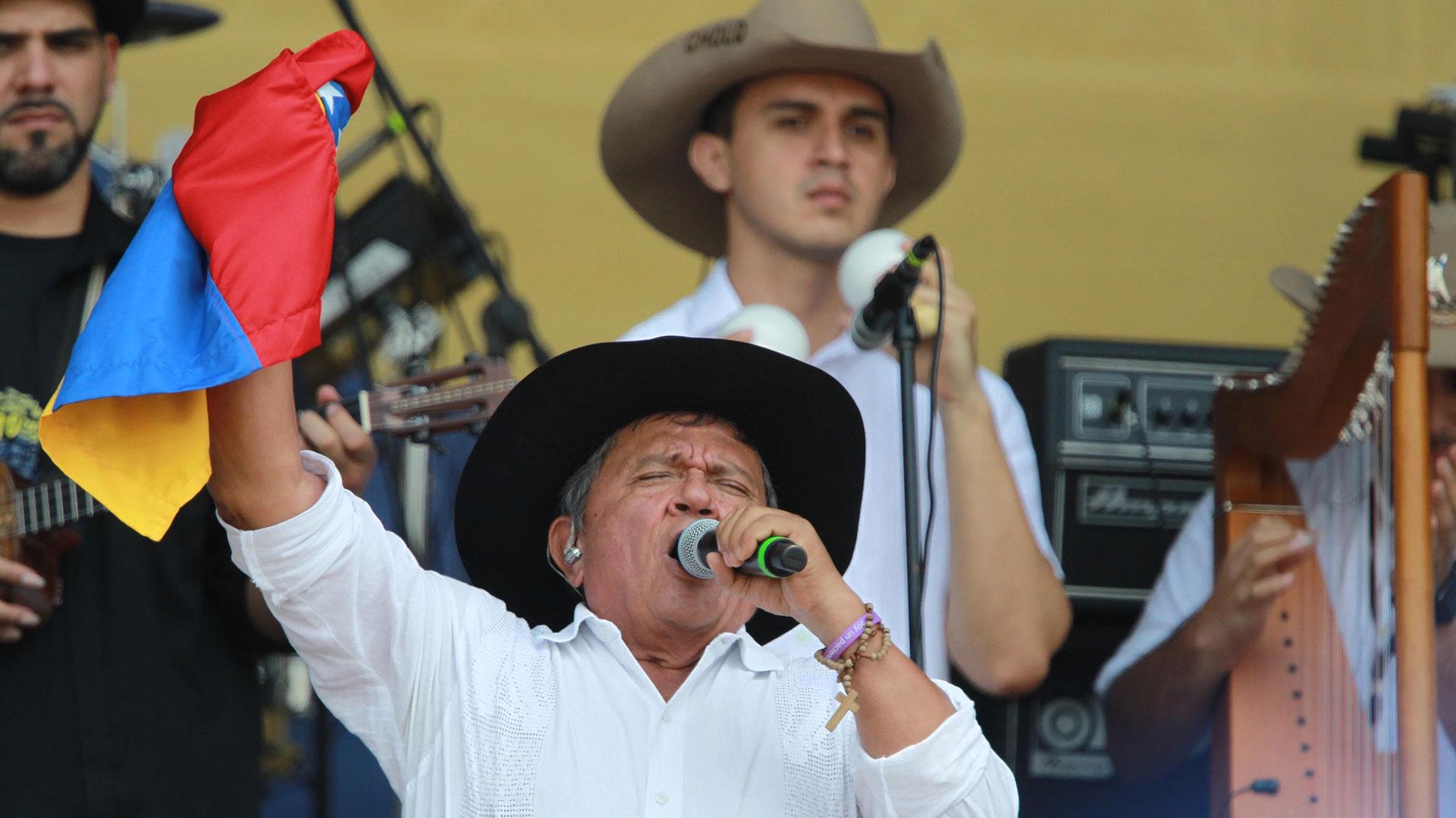 El Cholo Valderrama, cantautor colombiano, maestro de música llanera. (EFE)