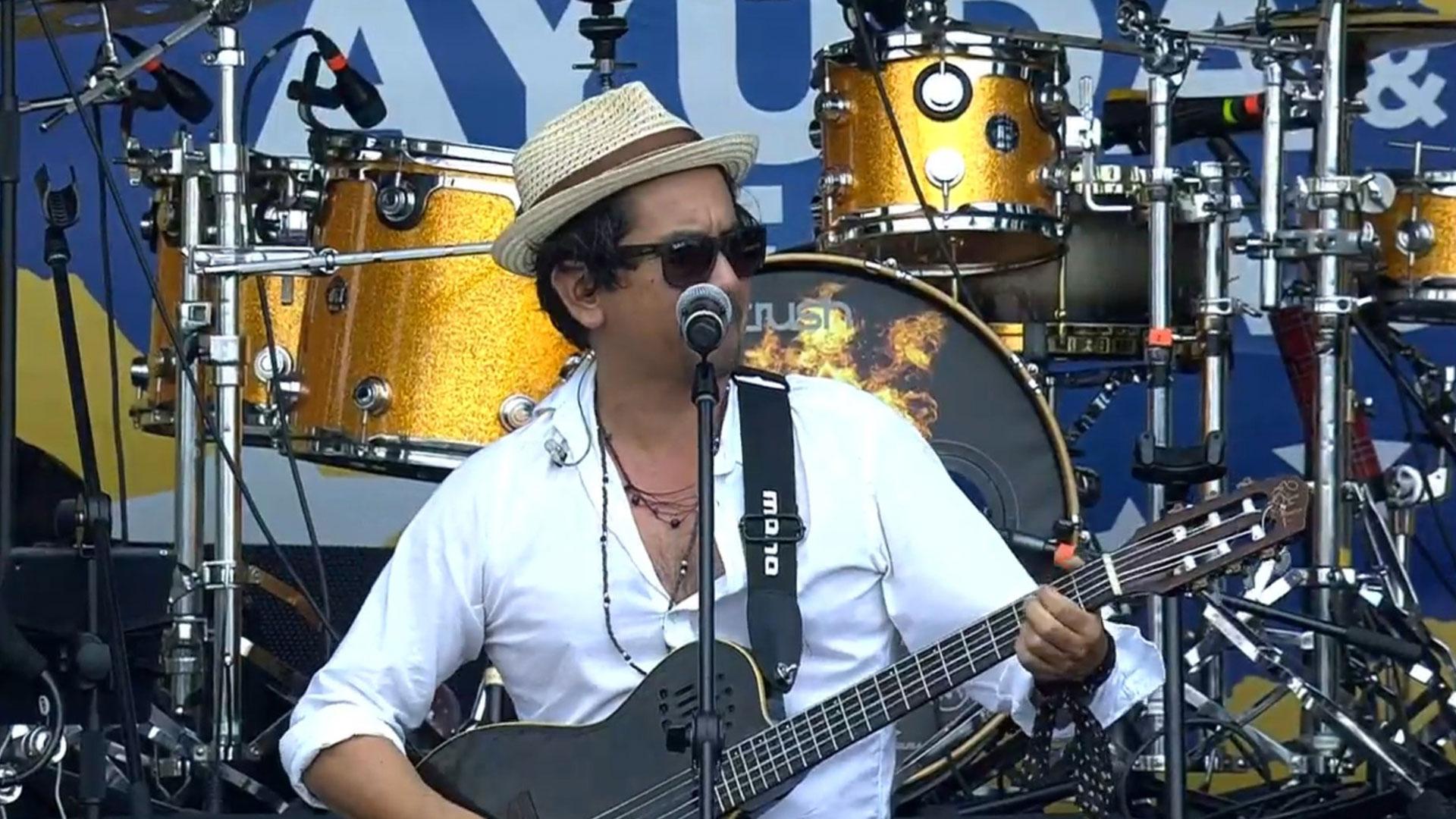 Jorge Villamizar, el cantante colombiano y líder de la banda de rock Bacilos