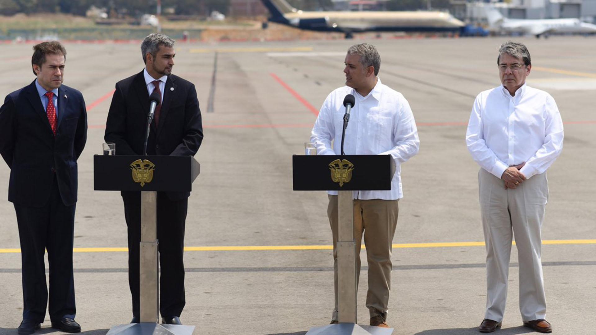 El presidente paraguayo Mario Abdo Benítez junto a Iván Duque (@IvanDuque)