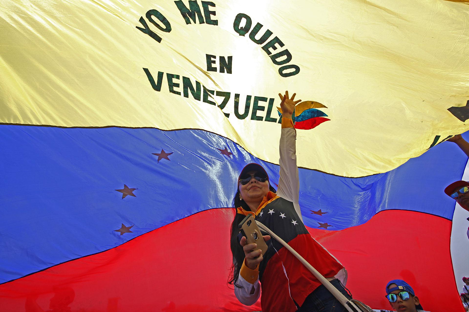 """""""Yo me quedo en Venezuela"""" (AFP)"""
