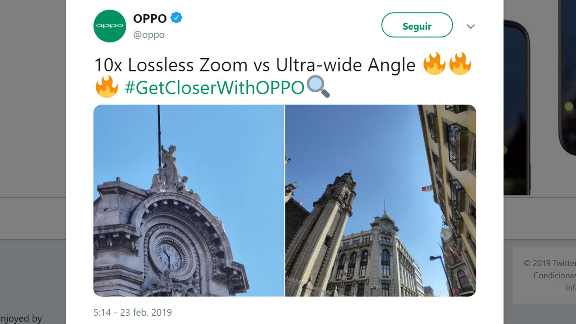 Durante la presentación, Oppo demostró las bondades de la nueva tecnología con fotos tomadas en Barcelona, en la Sagrada Familia,