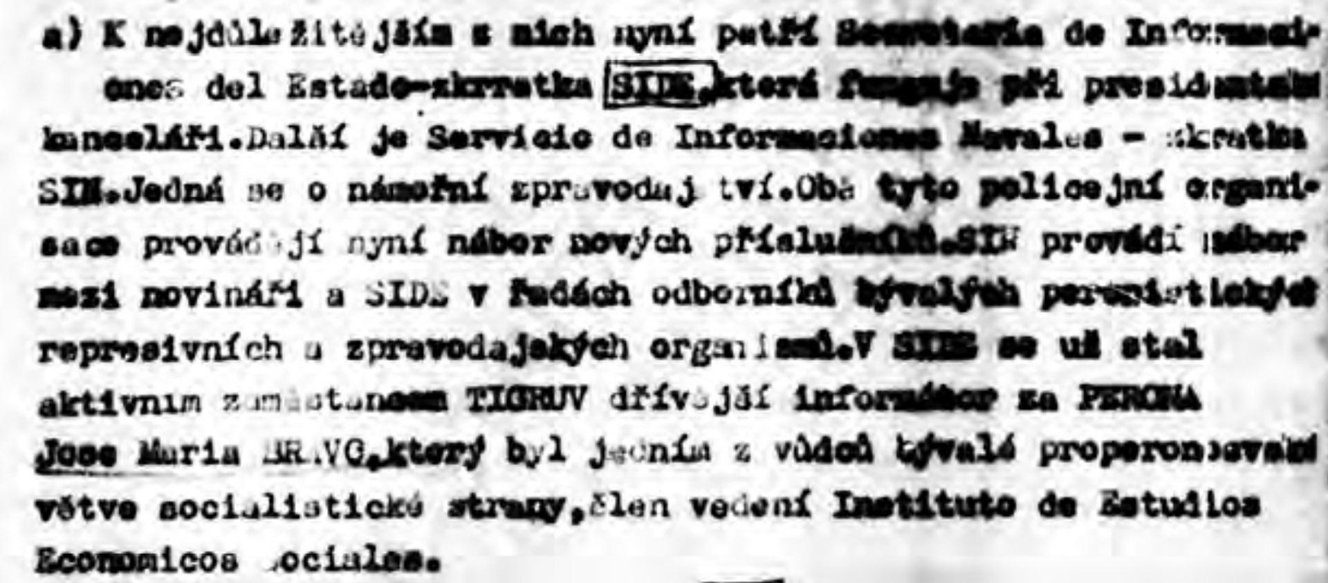 Nombres que aparecen en los archivos de Praga.