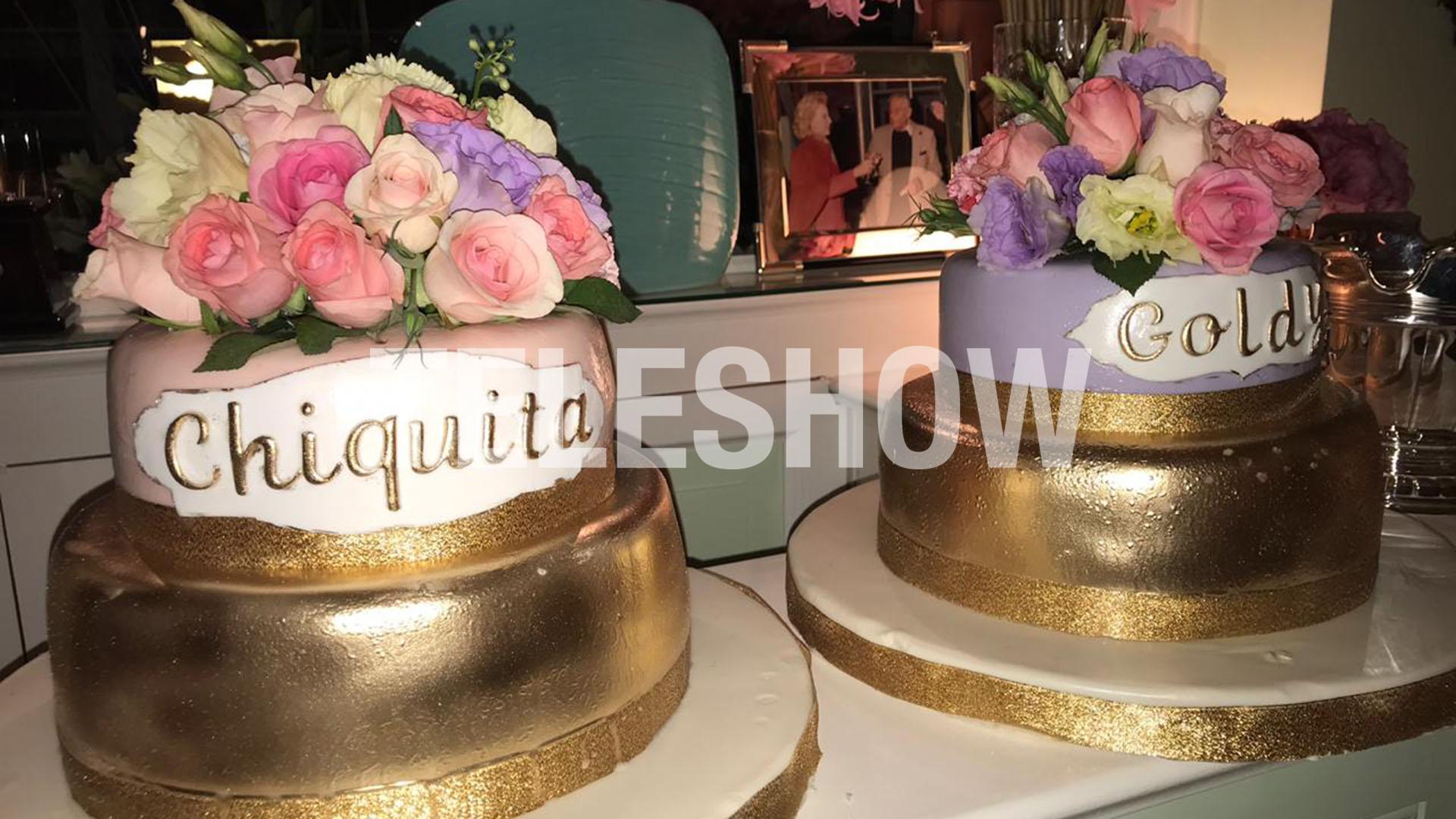 """Las tortas dedicadas a """"Chiquita"""" y a su hermana gemela, """"Goldie"""" (Fotos: Christian Bochichio y Verónica Guerman)"""