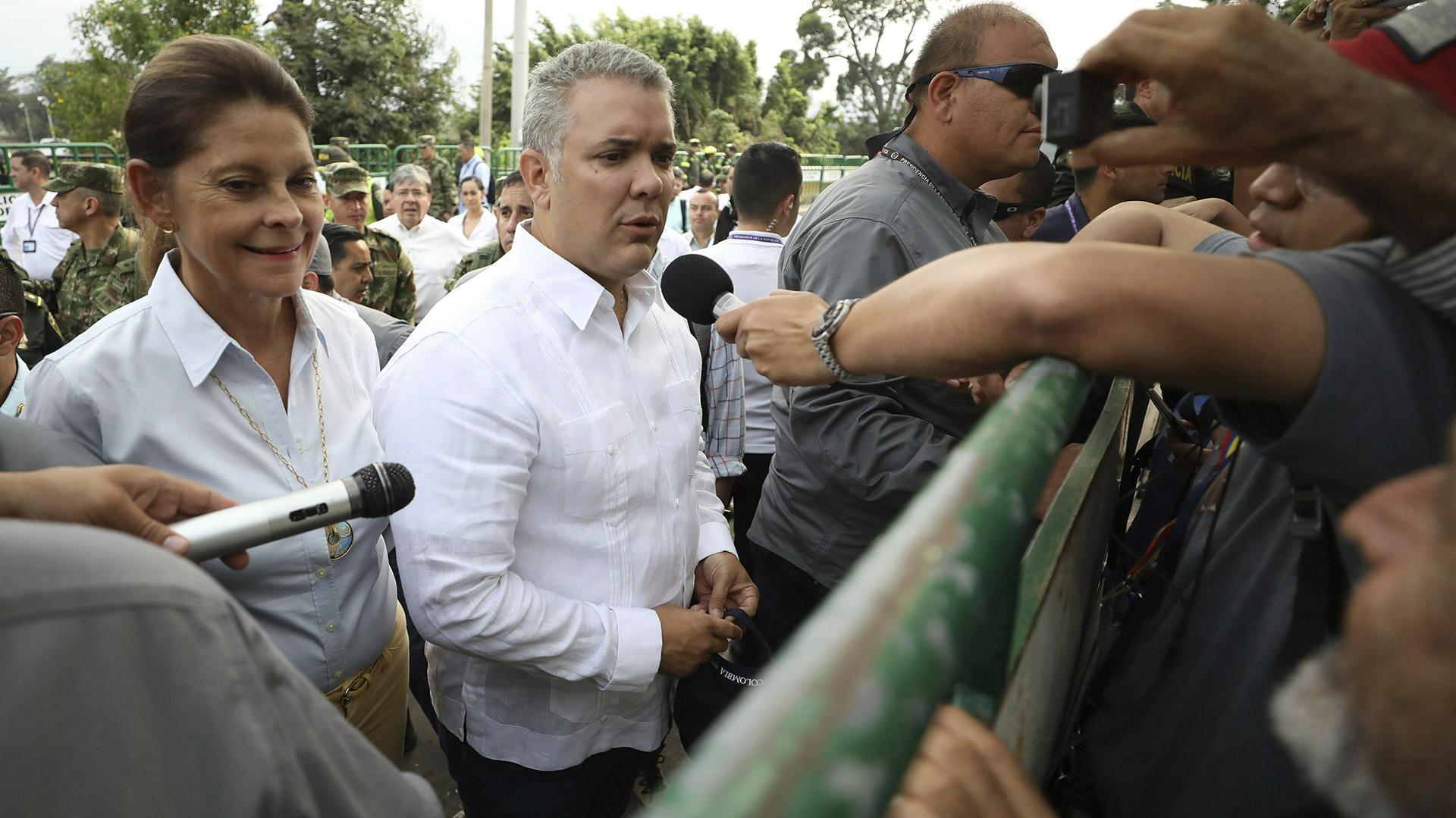 El presidente de Colombia, Iván Duque(AP Photo/Fernando Vergara)