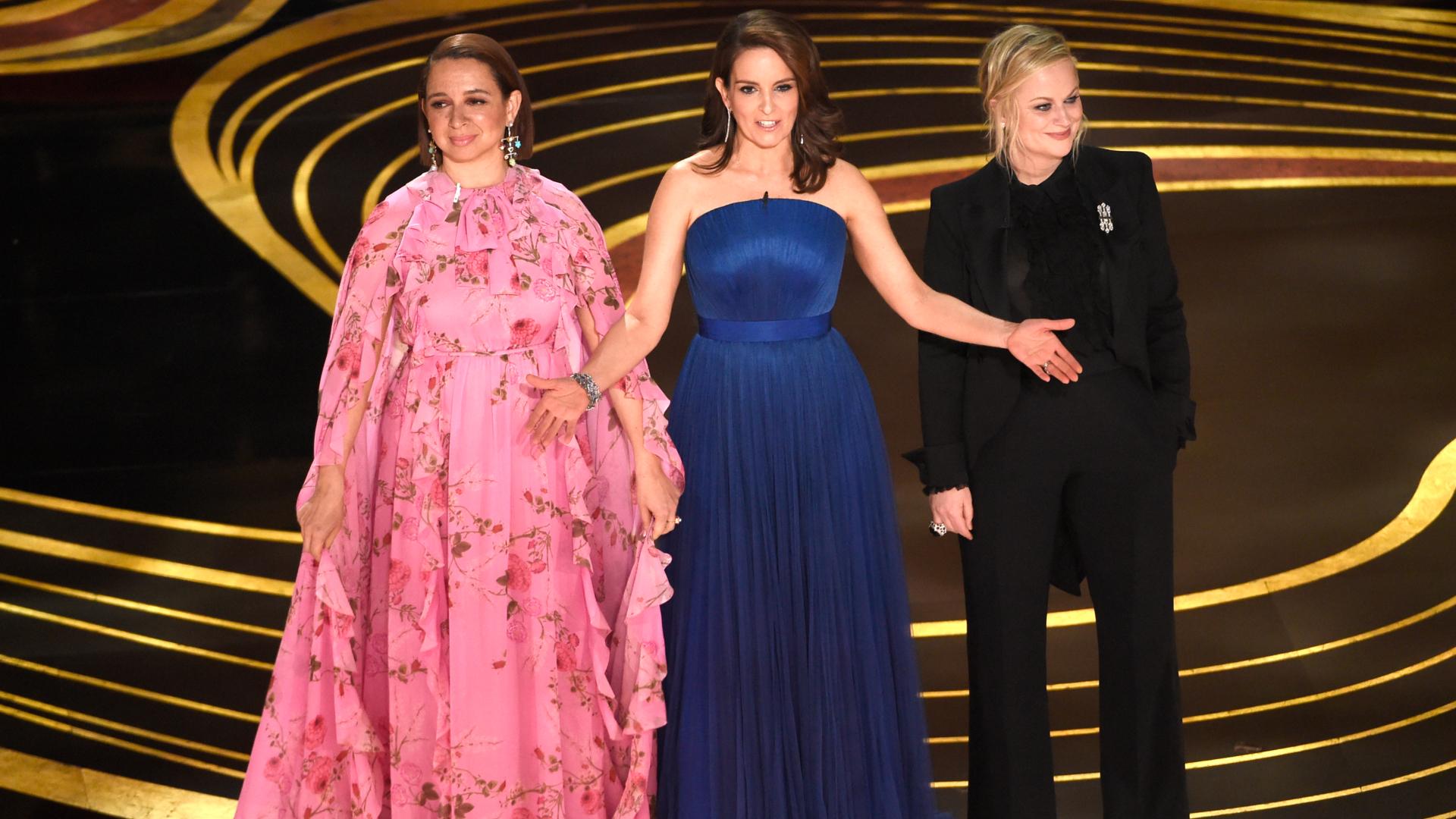 Maya Rudolph, Tina Fey Y Amy Poehl en la entrega de los Oscars (Foto: AP)