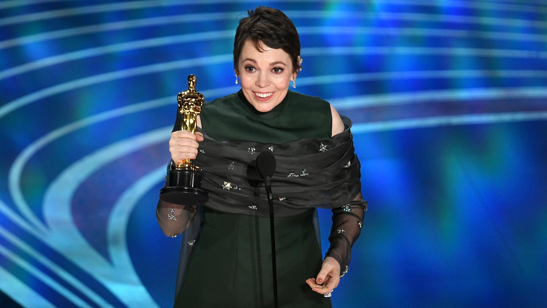Olivia Colman, mejor actriz protagónica (Kevin Winter/Getty Images/AFP)