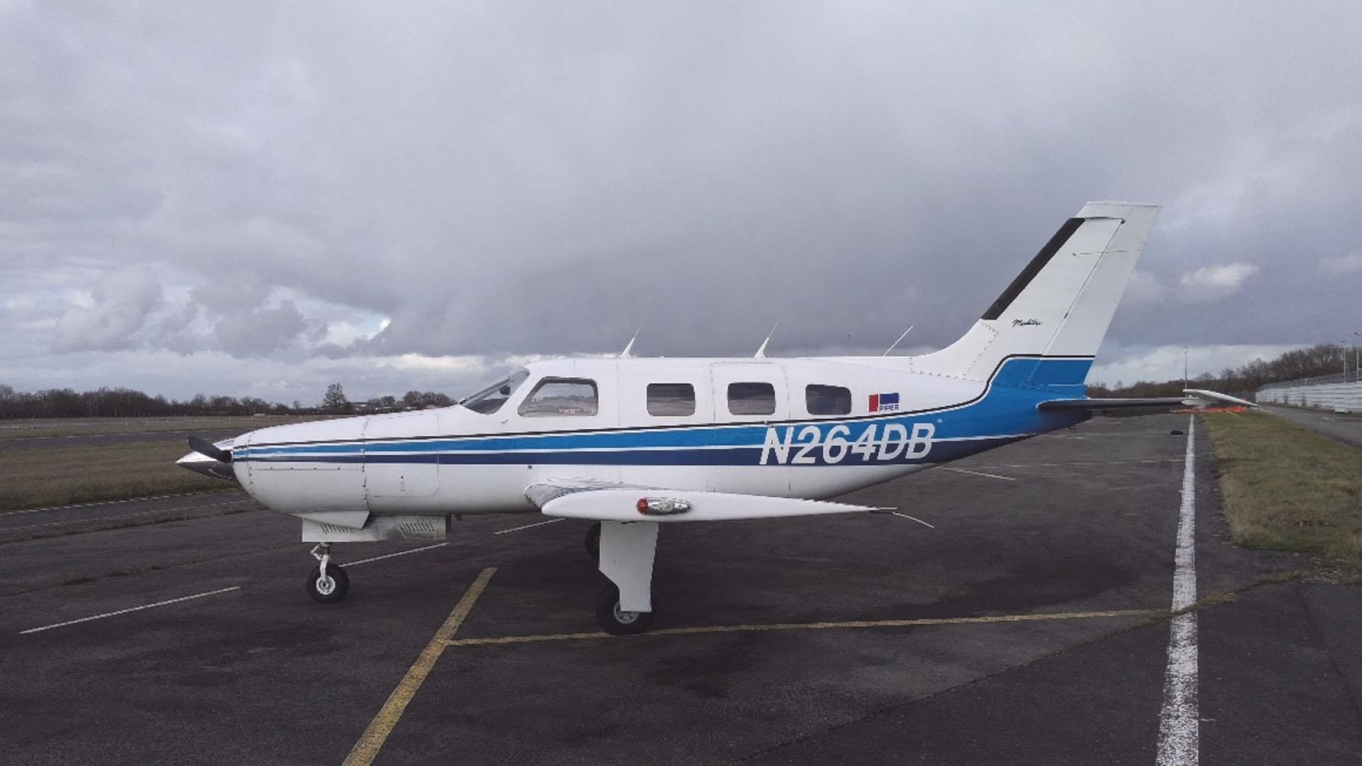 El avión en el que viajaba Emiliano Sala
