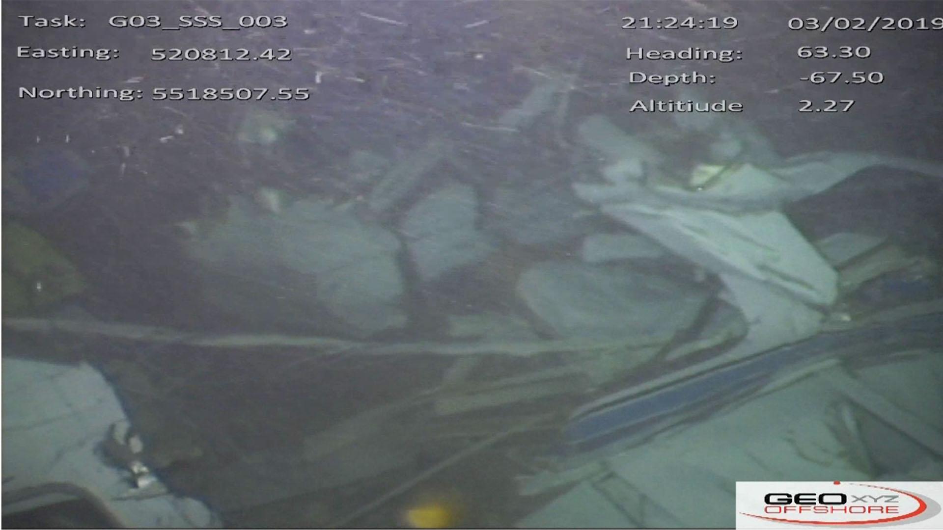Vista de la cabina y la rotura del fuselaje.