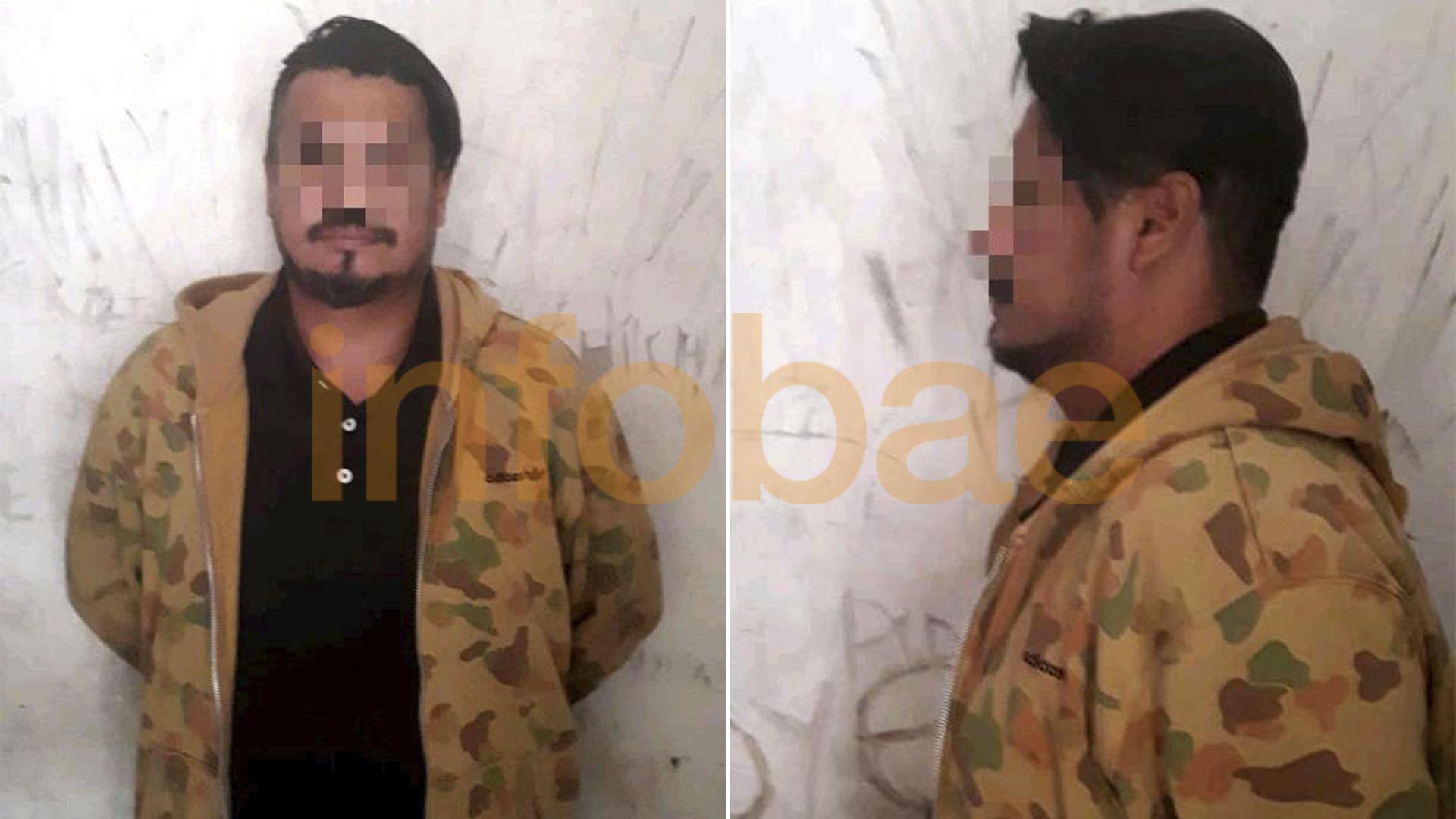 La imagen de Raúl Velaztiqui tras ser detenido por la policía