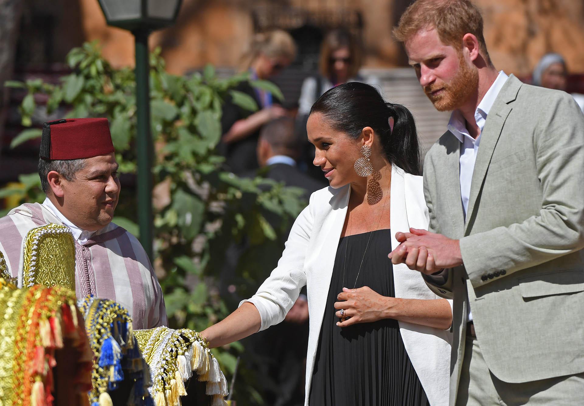 La pareja mantuvo una agenda llena de compromisos sociales. Aquí, de visita a Marruecos