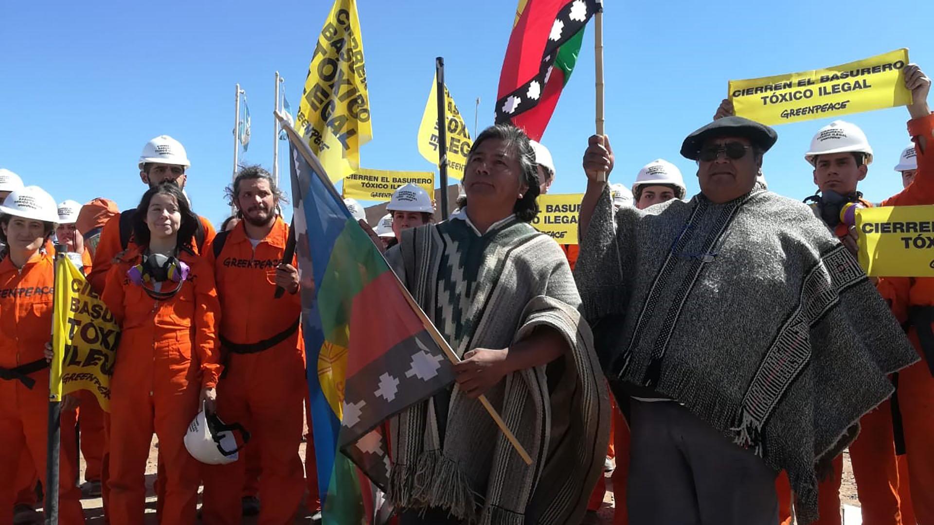 Grupos indígenas se sumaron a la protesta