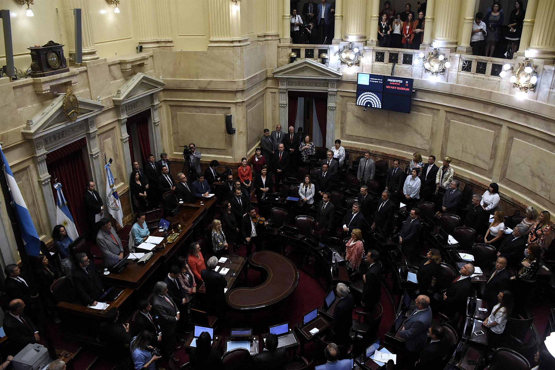 El presupuesto anual del Senado asciende a más de 9 mil millones de pesos (foto de archivo: Nicolás Stulberg)
