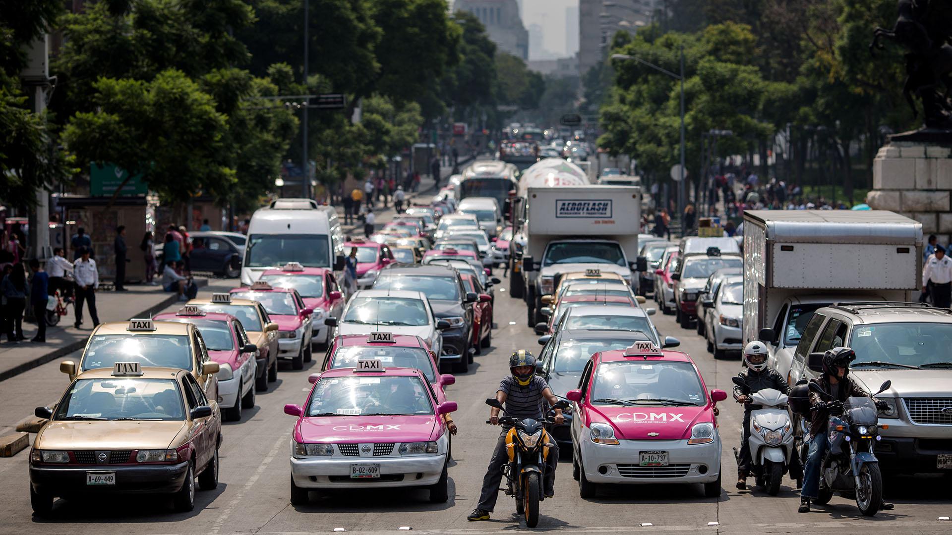 Tráfico en México (Bloomberg)