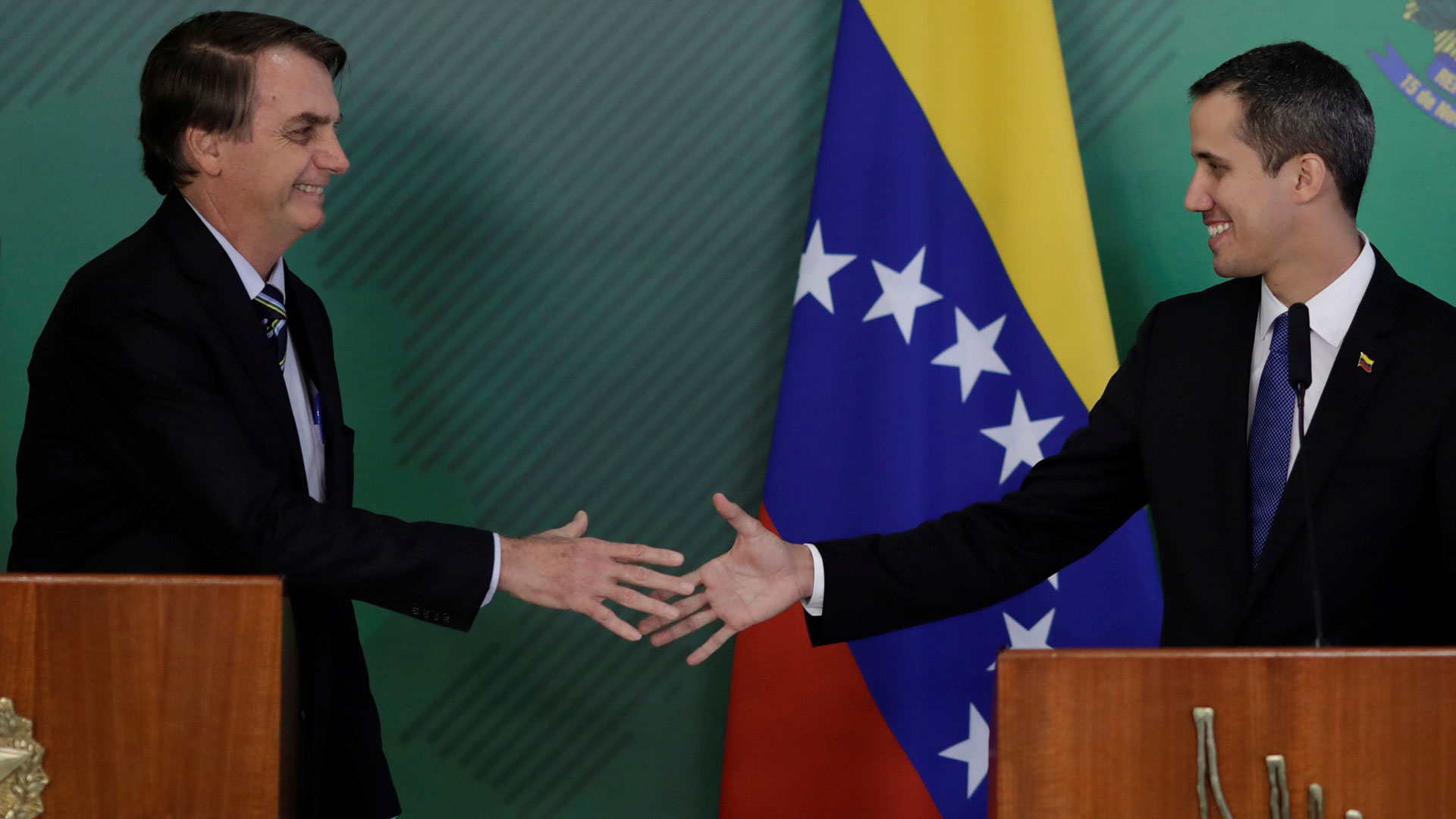 Bolsonaro recibió a Guaidó en Brasilia (Reuters)