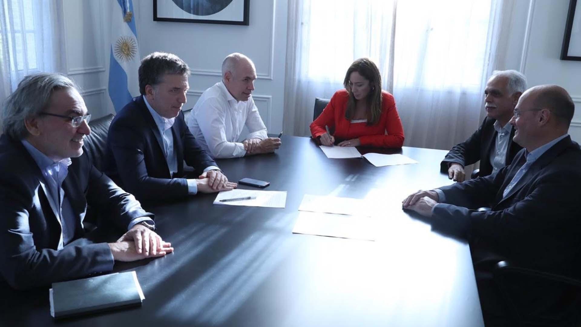 Lopetegui, Dujovne, Larreta y Vidal