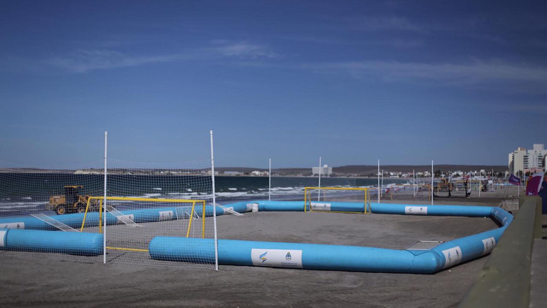 Así es la cancha donde se disputarán los partidos de fútbol playa