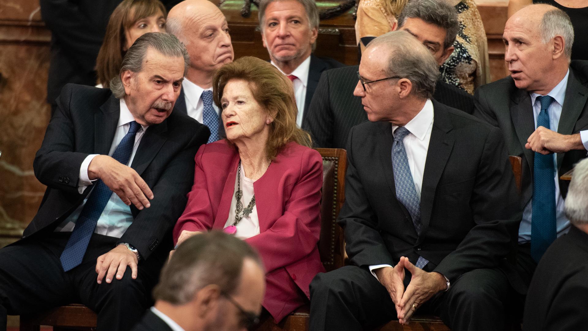 Los ministros de la Corte Suprema de Justicia. Adelante, Maqueda, Highton de Nolasco y Rosenkrantz. Atrás, Rossati y Lorenzetti