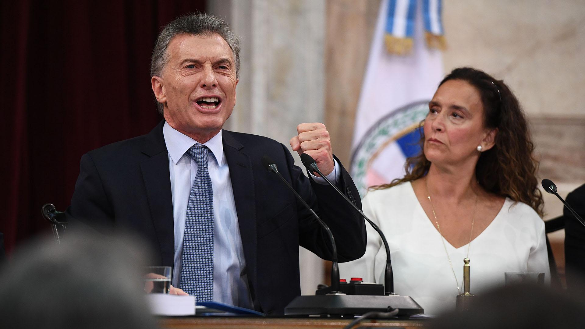 Mauricio Macri y Gabriela Michetti