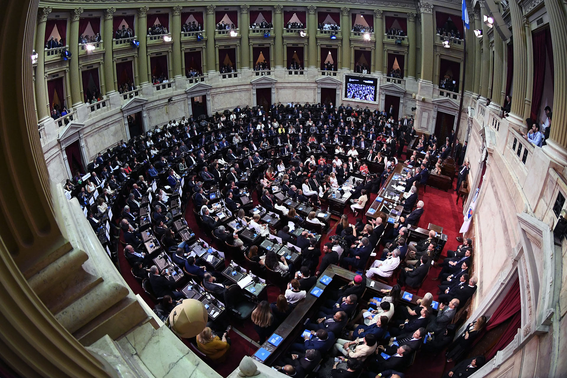 Imagen panorámica de la Cámara de Diputados