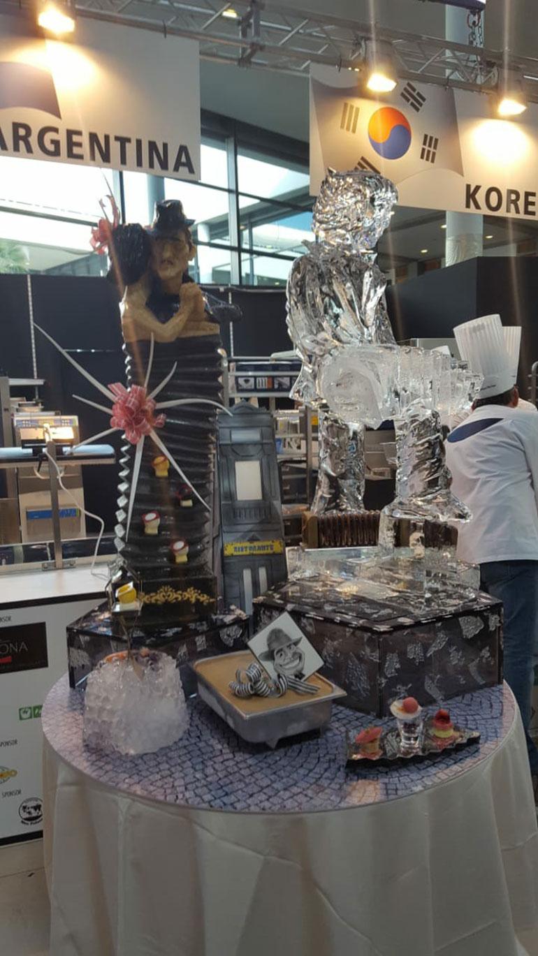 En las competencias internacionales no solo es sobre helado sino también esculturas de hielo y caramelo (Maximiliano Maccarrone)