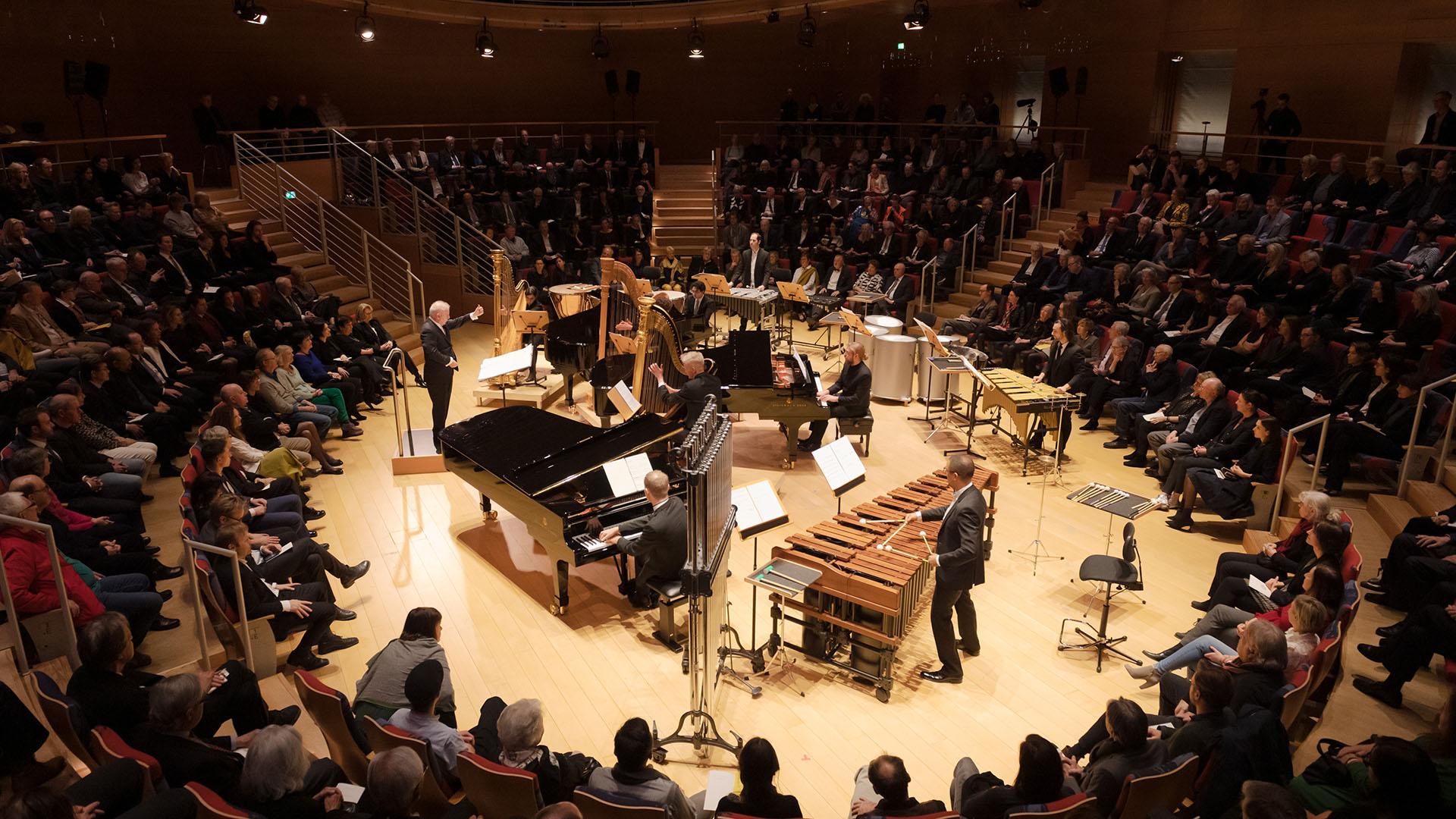 Vista de la Sala Pierre Boulez durante el concierto del 28/02. Foto: © Peter Adamik