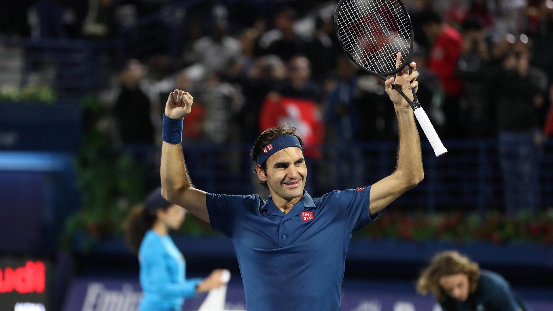 El festejo de Roger tras su consagración (Reuters)