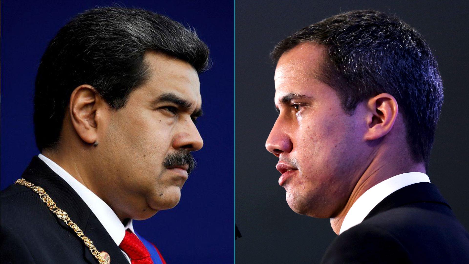 El enfrentamiento entre el chavista Nicolás Maduro y el presidente interino Juan Guaidó está marcando el ritmo de la crisis política en Venezuela