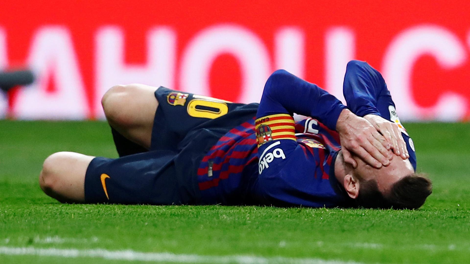 Lionel Messi terminó con una molestia en el el aductor de la pierna derecha (REUTERS)
