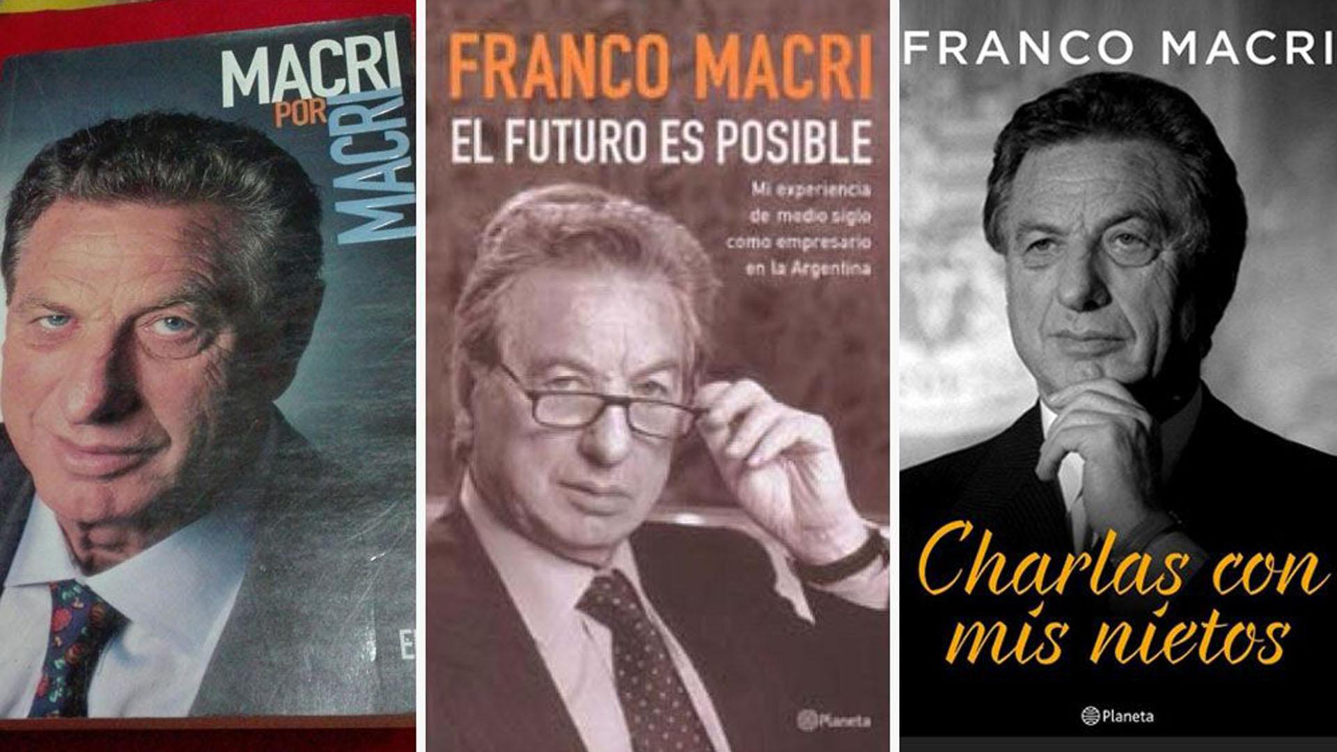 Franco Macri escribió tres libros a lo largo de su vida