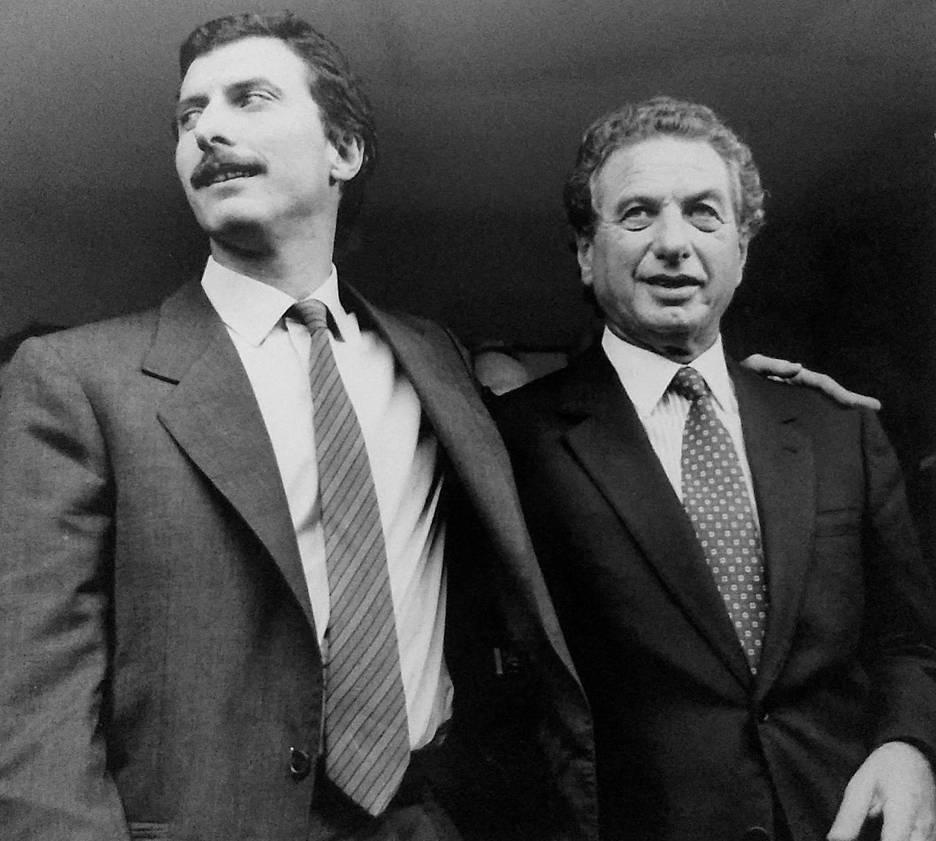 Durante la década del '80 Franco Macri sumó a su hijo mayor Mauricio en la gestión empresarial (REUTERS)