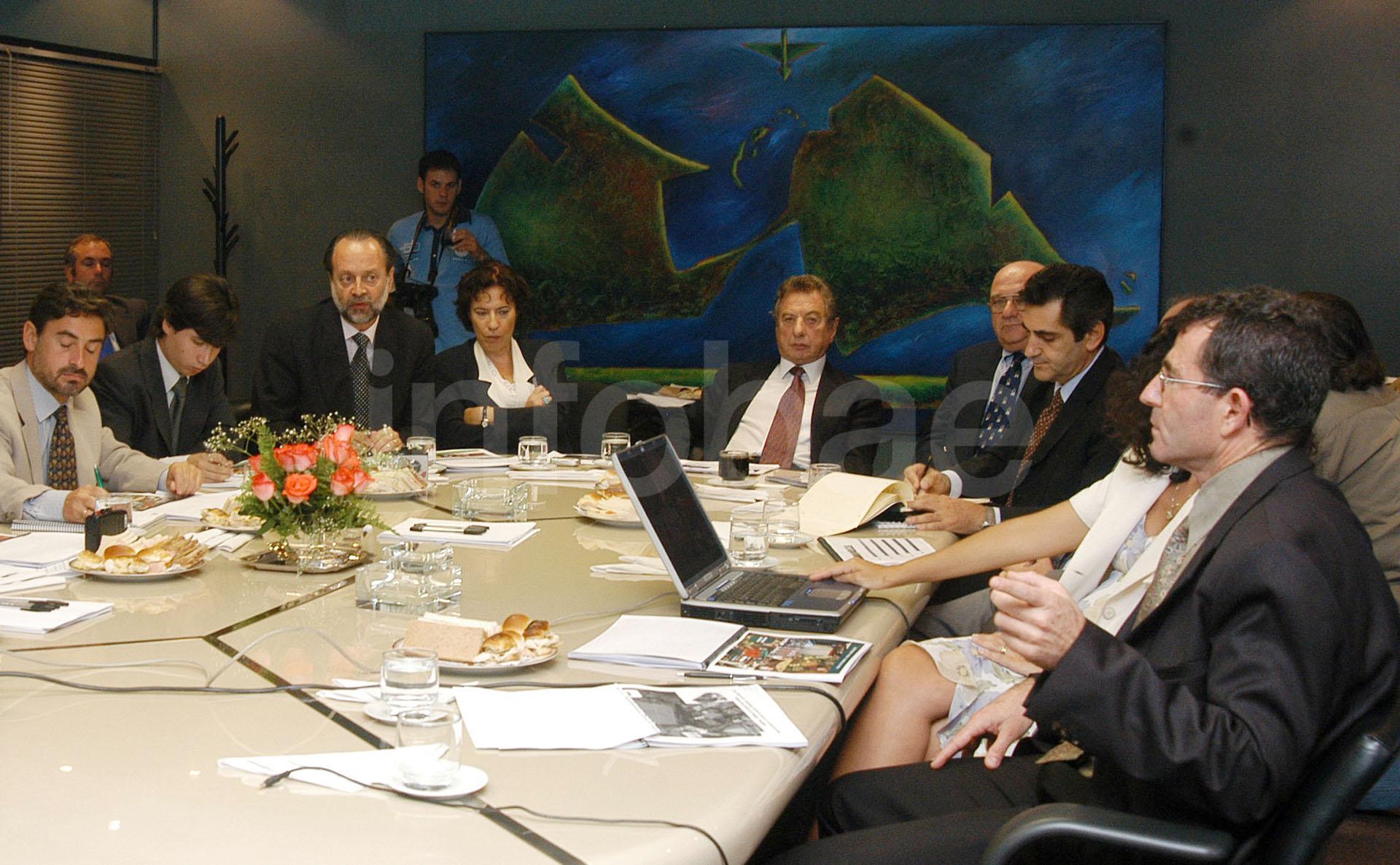 Franco Macri, durante una de las reuniones en el grupo SOCMA (Enrique García Medina)