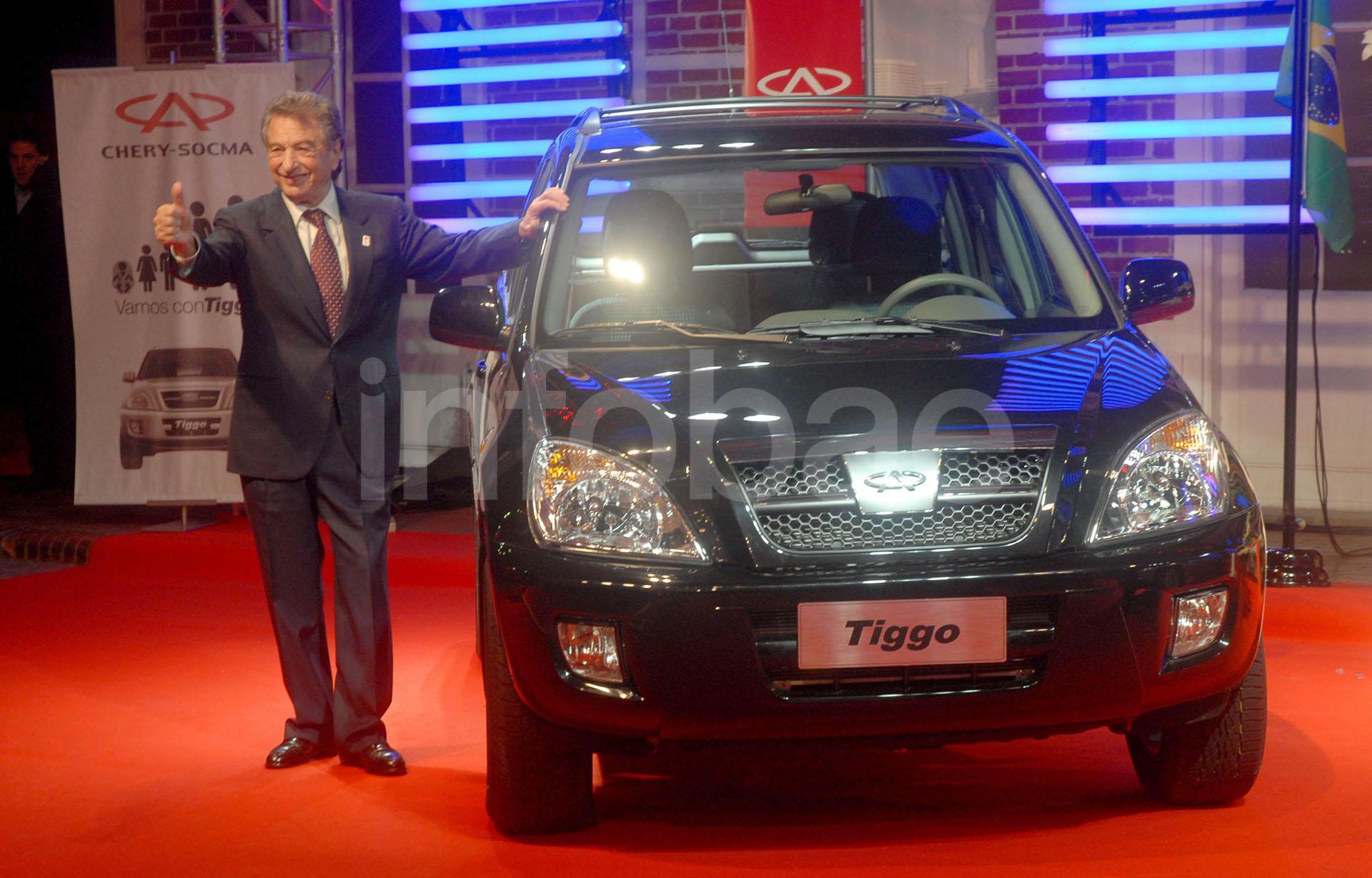 El lanzamiento de la camioneta Chery Tiggo en la Argentina fue uno de los dos primeros emprendimientos concretados por el empresario con China (Enrique García Medina)