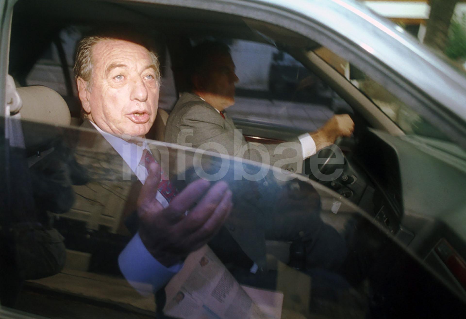 Mayo de 2003, día de tensión extrema para Franco Macri. Apenas unas horas antes había sido rescatada de un secuestro su hija Florencia (Enrique García Medina)