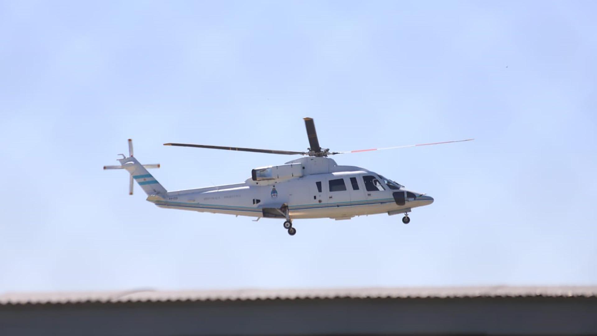 Mauricio Macri se trasladó de Aeroparque a Olivos en helicoptero (Matias Baglietto)