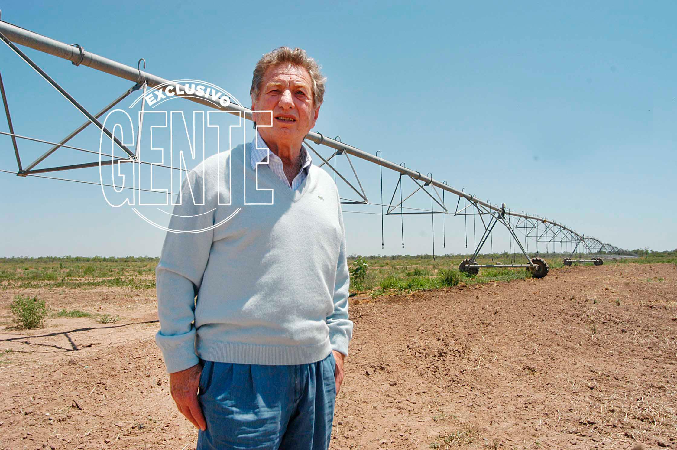 Franco Macri en su campo El Yuto, sobre la ruta 34 en Salta. Foto: Enrique García Medina/GENTE
