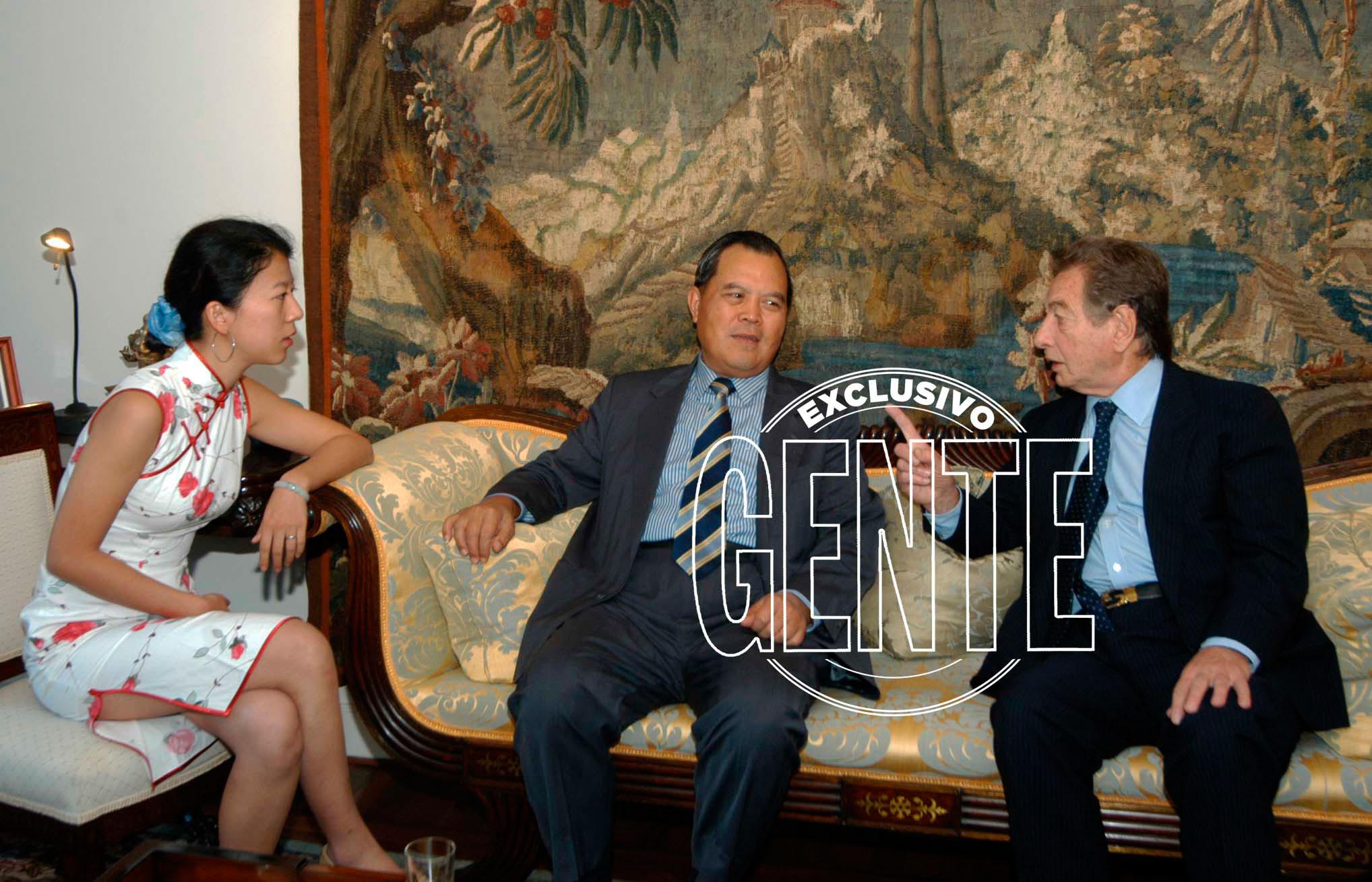 Franco Macri en una de sus reuniones de negocios con empresarios chinos. Foto: Enrique García Medina/GENTE