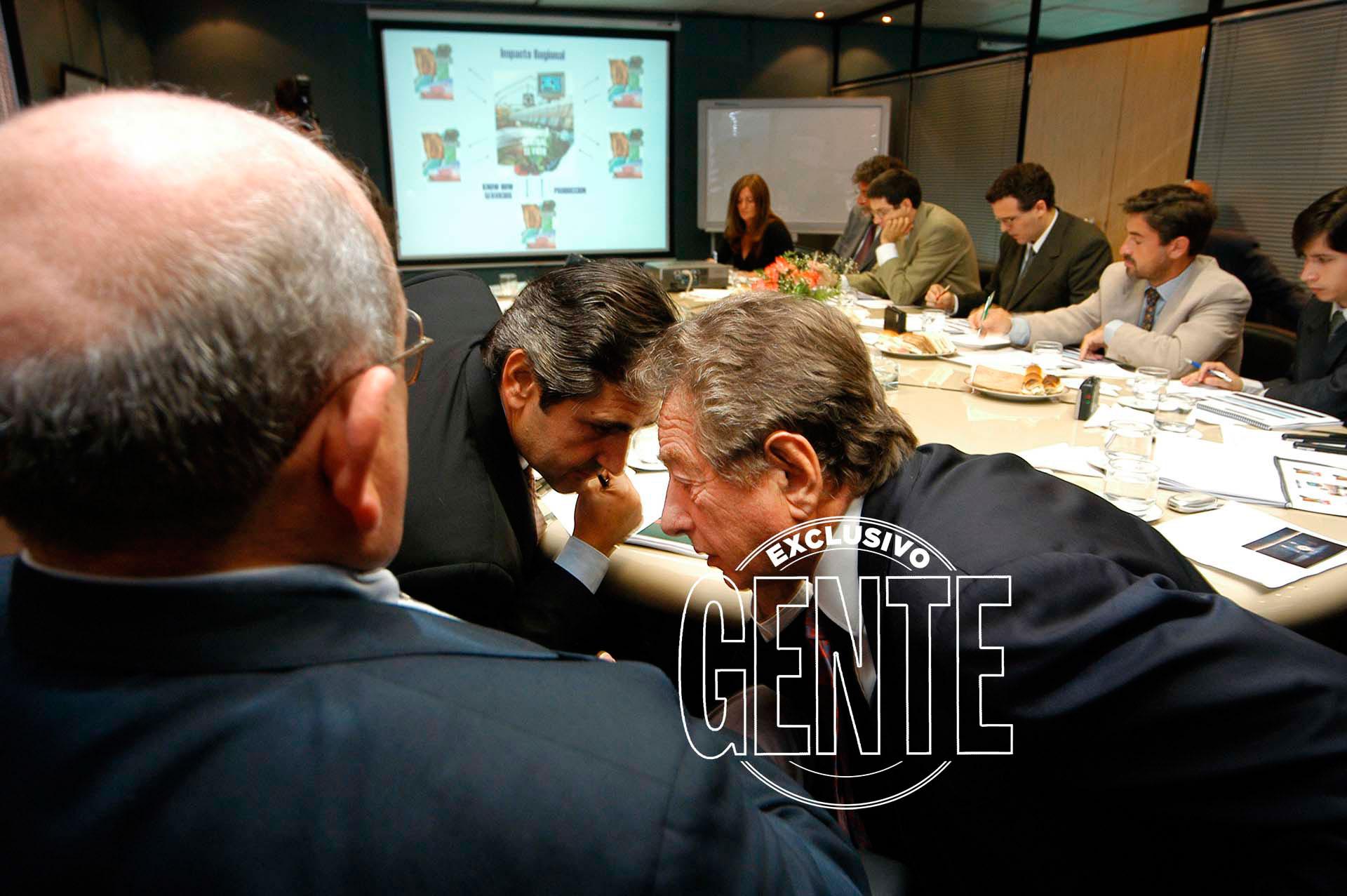 Macri, en una de sus reuniones en SOCMA. Foto: Enrique Garcia Medina/Revista GENTE