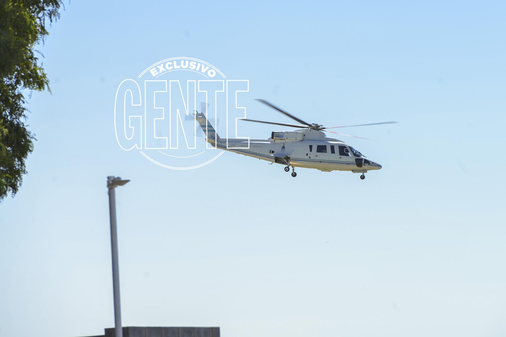 Macri partió desde Aeroparque hacia la residencia de Olivos en helicóptero. Foto: Fabián Uset/GENTE