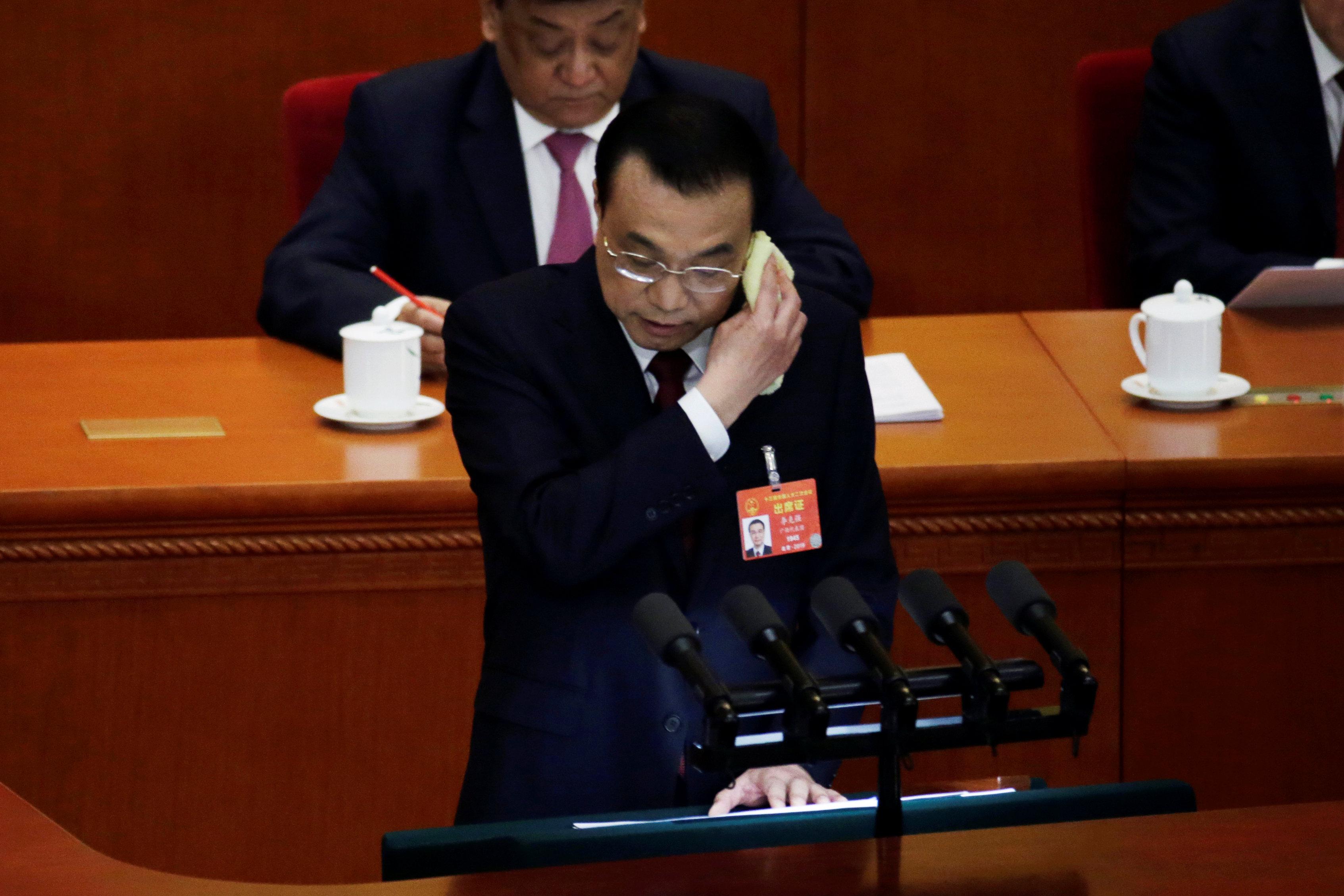 Li Keqiang durante su discurso (REUTERS/Jason Lee)