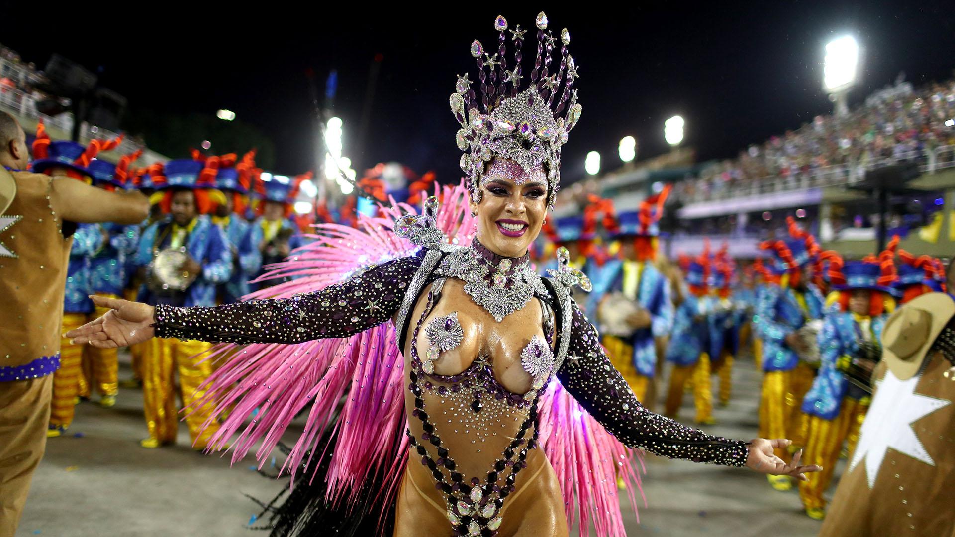 Paraiso do Tuiuti, la otra escuela que se destacó en el carnaval(REUTERS/Pilar Olivares)