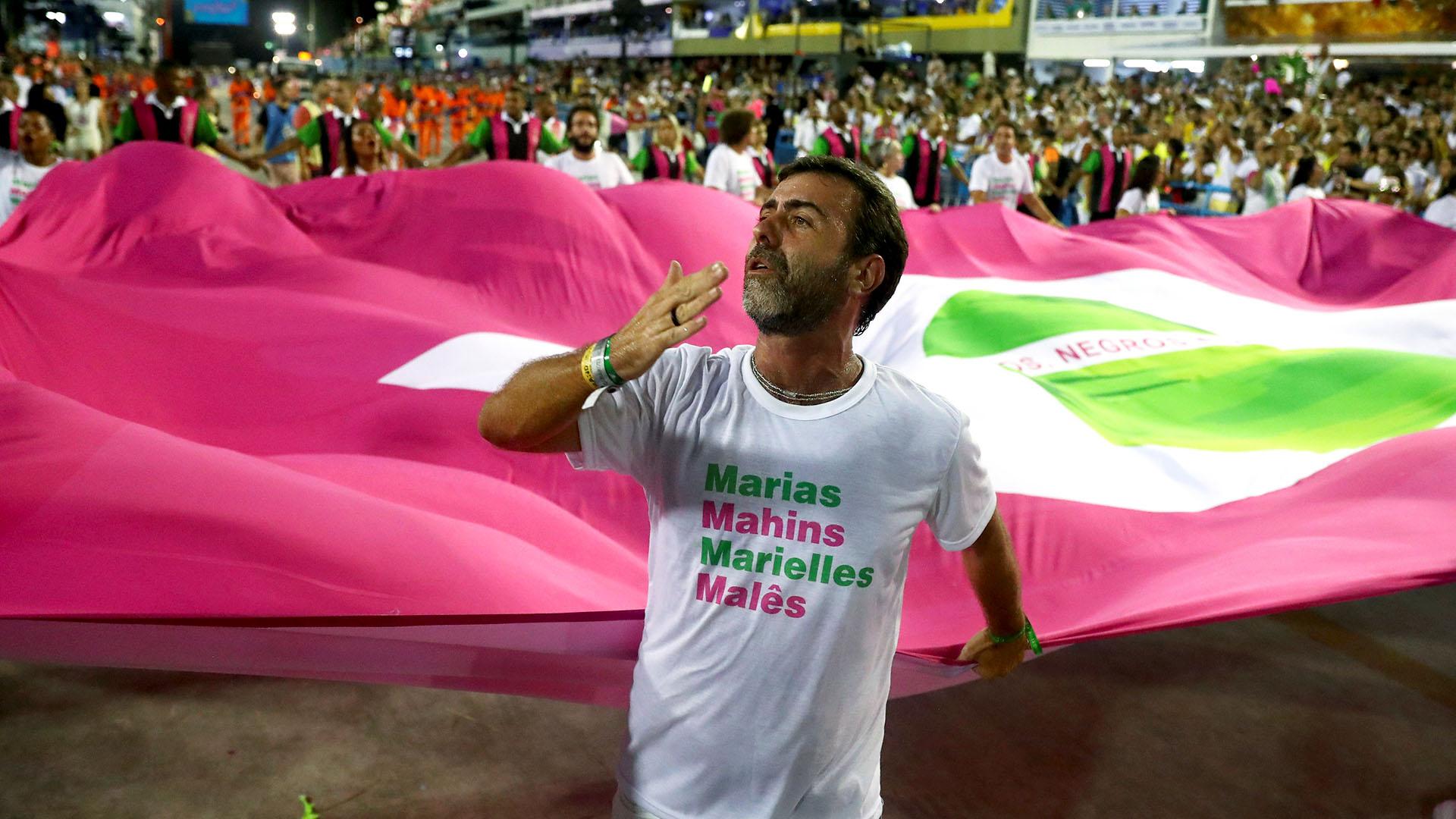 El diputado Marcelo Freixo desfiló en el Carnaval(REUTERS/Pilar Olivares)