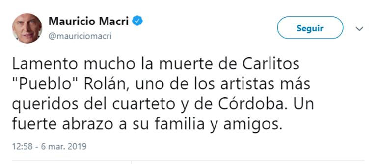 El tuit del presidente