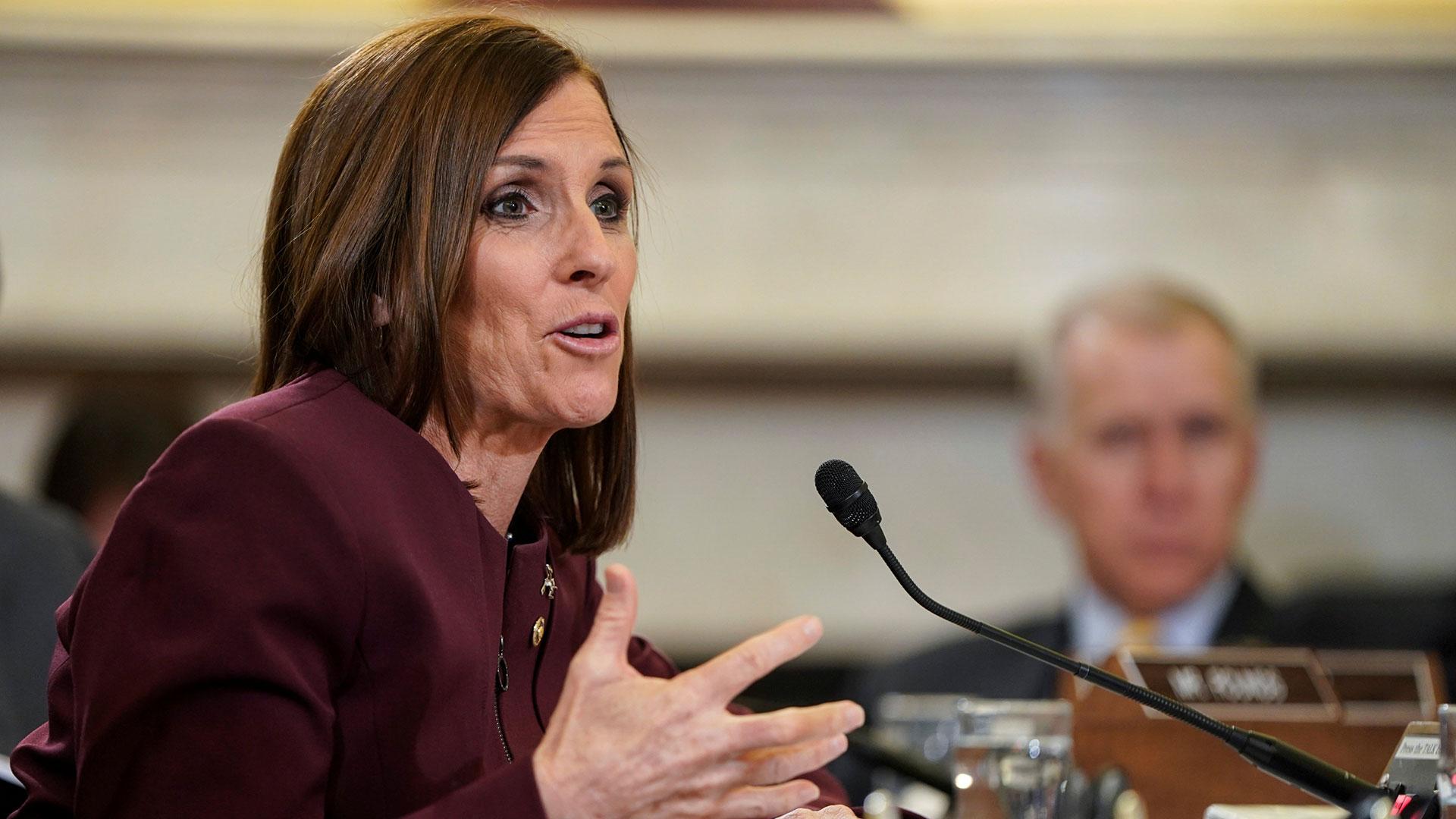 Mc Sally durante la audiencia en el Senado (Reuters)