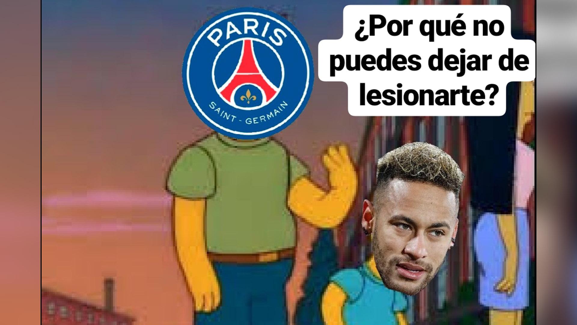 Los usuarios apuntaron a Neymar en sus memes